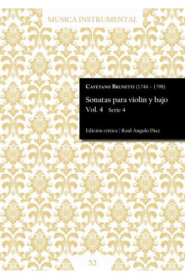 Brunetti | Sonatas para violín y bajo Vol. 4