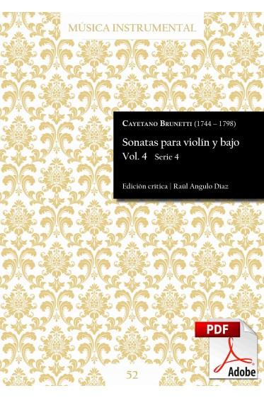 Brunetti   Sonatas para violín y bajo Vol. 4