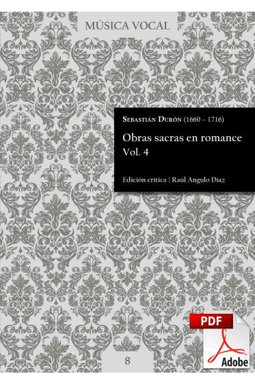 Durón   Obras sacras en romance Vol. 4