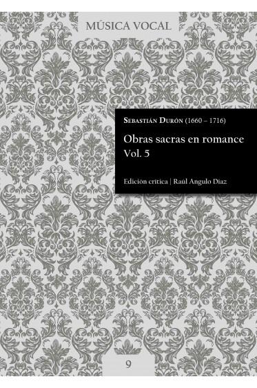 Durón   Obras sacras en romance Vol. 5