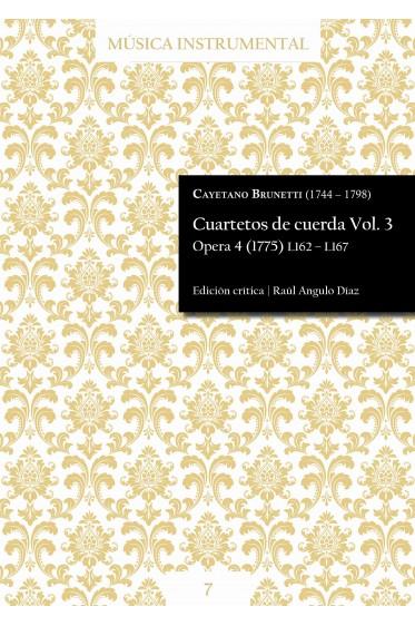 Brunetti | String quartets Vol. 3