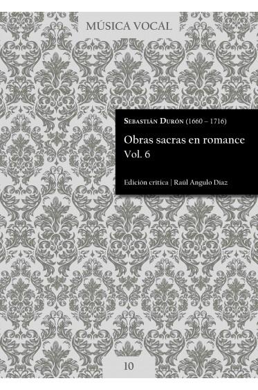 Durón | Obras sacras en romance Vol. 6