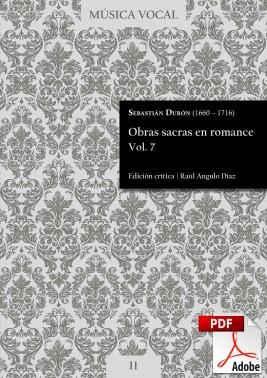 Durón | Obras sacras en romance Vol. 7 DIGITAL